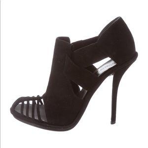 Black suede Balenciaga pumps/heels